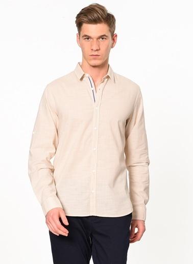 Jack & Jones Uzun Kollu Gömlek Bej